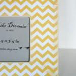 Yellow Chevron Picture Fra..