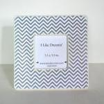 Grey Chevron Picture Frame