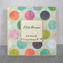 Colored Dots Picture Frame